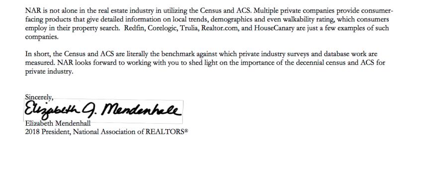 3-13-18 Blog NAR Letter to Senator McCaskill Re American Community SurveyImage2